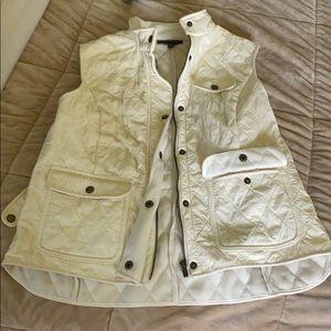 Talbots cream vest